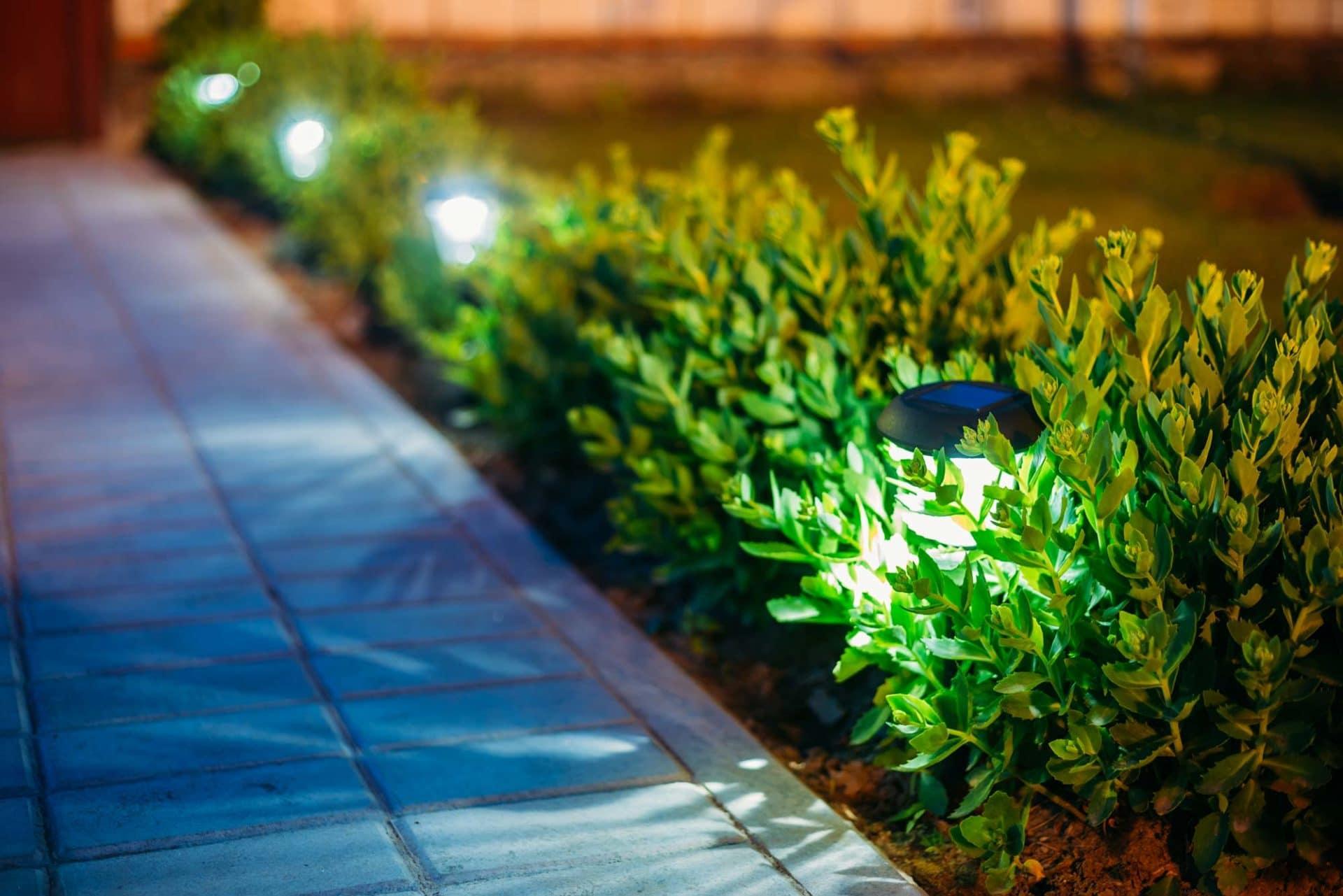 Solarleuchten im Garten